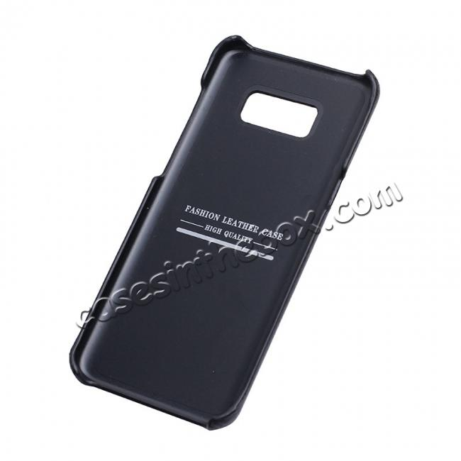 top quality Genuine Leather Matte Back Hard Protective Case Skin Cover for Samsung Galaxy S8 - Black