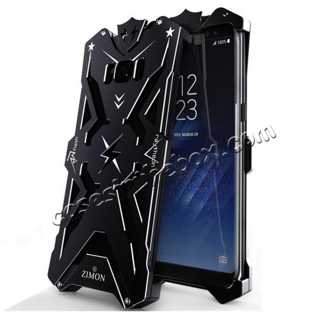 wholesale Luxury Heavy Duty Armor Metal Aluminum Phone Cover Case For Samsung Galaxy S8 Plus - Black