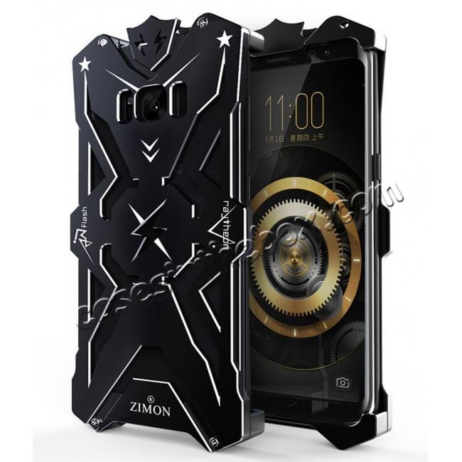discount Luxury Heavy Duty Armor Metal Aluminum Phone Cover Case For Samsung Galaxy S8 Plus - Black
