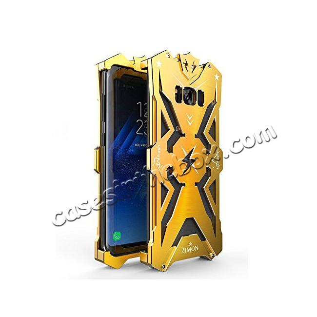 discount Luxury Heavy Duty Armor Metal Aluminum Phone Cover Case For Samsung Galaxy S8 Plus - Gold