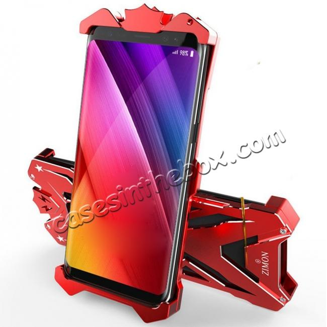 cheap Luxury Heavy Duty Armor Metal Aluminum Phone Cover Case For Samsung Galaxy S8 Plus - Red