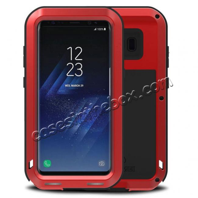 wholesale Metal Aluminum Shockproof Case Cover For Samsung Galaxy S8 - Red