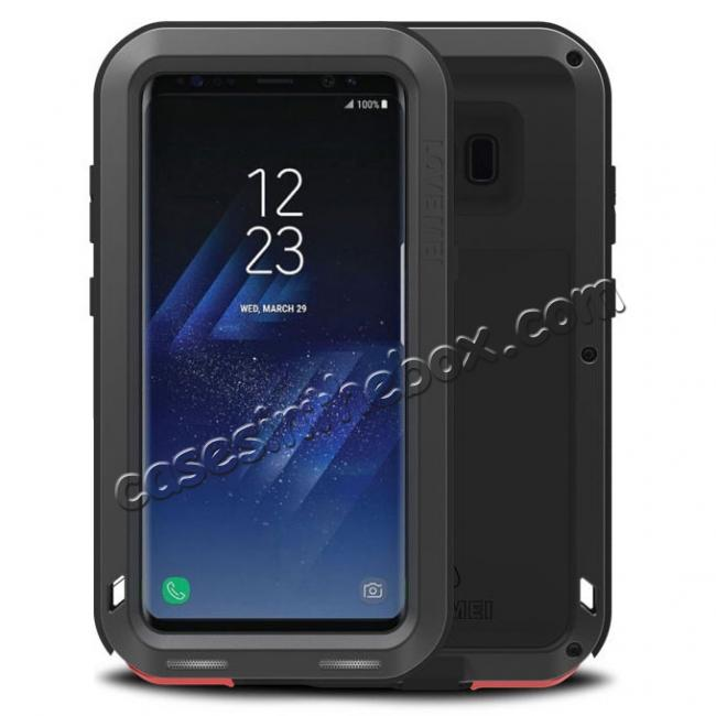 wholesale Metal Extreme Aluminum Heavy Duty Shockproof Water Resistant Dust/Dirt/Snow Proof Case for Samsung Galaxy S8 Plus - Black