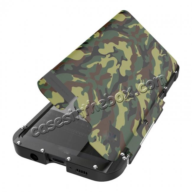 cheap R-JUST Aluminum Metal  Shockproof Full Body Case For Samsung Galax S8 Plus - Camouflage
