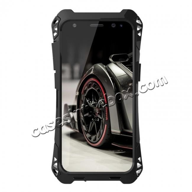 metal case samsyng s8,discount R-just Full-body Aluminum Alloy Metal Bumper Shockproof Dropproof Cover Case For Samsung Galaxy S8 - Black