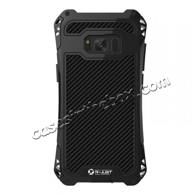 metal phone case galaxy s8,cheap R-just Full-body Aluminum Alloy Metal Bumper Shockproof Dropproof Cover Case For Samsung Galaxy S8 - Black