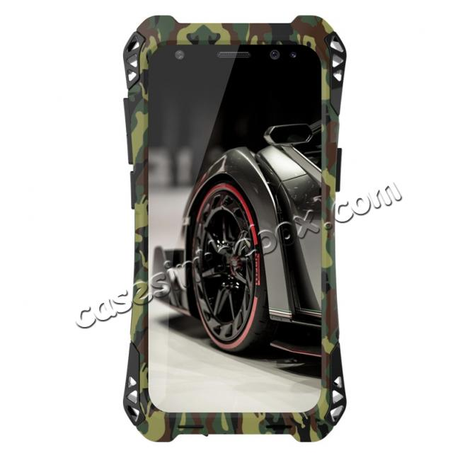 cheap R-just Powerful Anti-drop Shockproof Dirt Proof Metal Aluminum Cover Case for Samsung Galaxy S8+ Plus - Camouflage