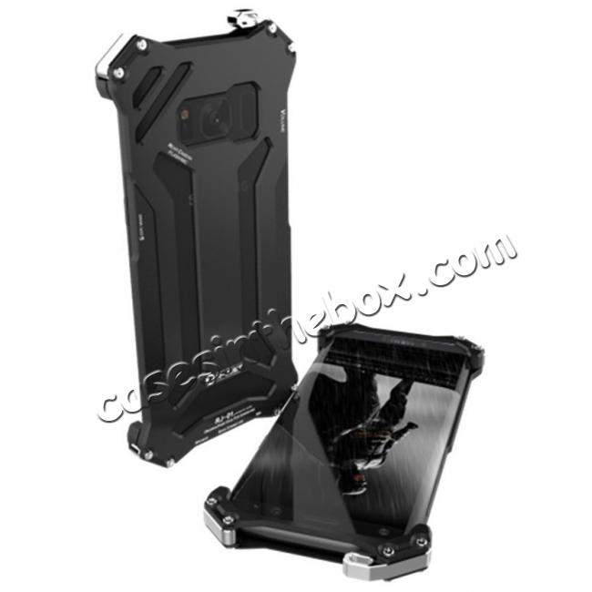 wholesale R-JUST Shockproof Dropproof Aluminum Metal Case for Samsung Galaxy S8+ Plus - Black