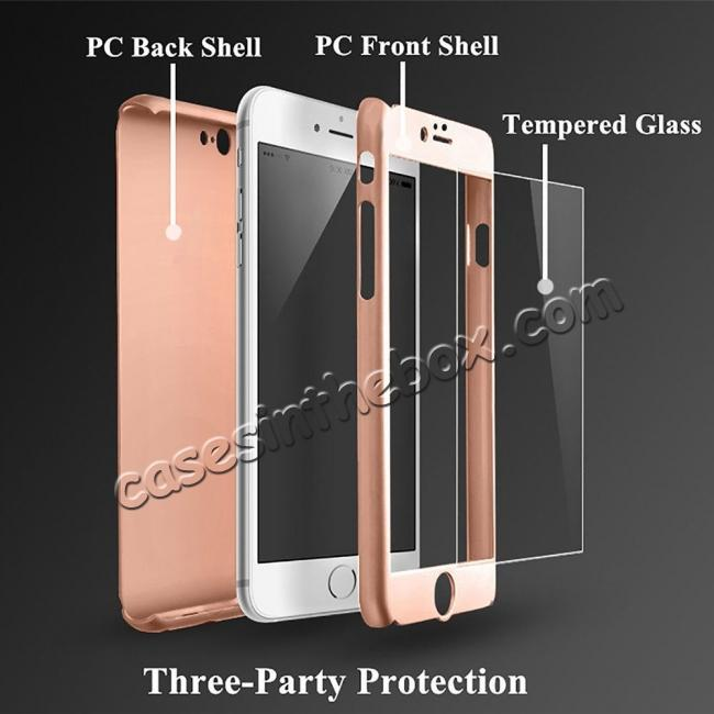 best price 360° Protective Ultra Slim Hard Case Cover + Tempered Glass For iPhone 7 / 7 Plus / 6 / 6 Plus / 6s / 6S Plus