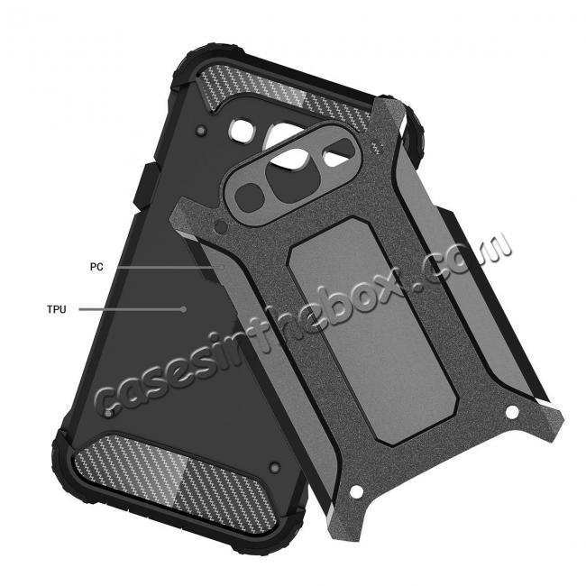 discount Dual Layer Shockproof Armor Case Cover for Samsung Galaxy J2 Prime - Black