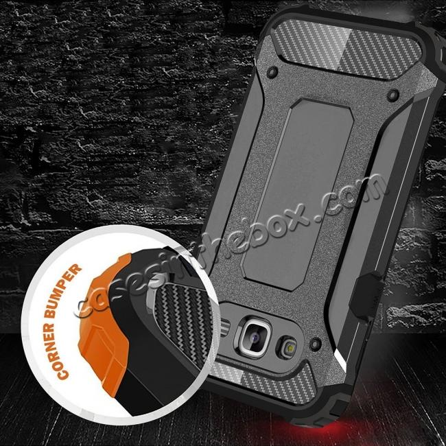 cheap Dual Layer Shockproof Armor Case Cover for Samsung Galaxy J2 Prime - Black