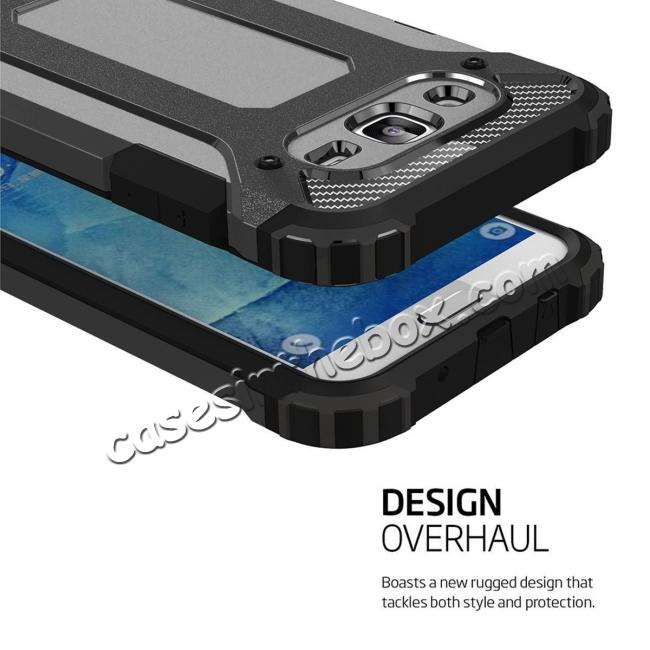 top quality Dual Layer Shockproof Armor Case Cover for Samsung Galaxy J2 Prime - Black