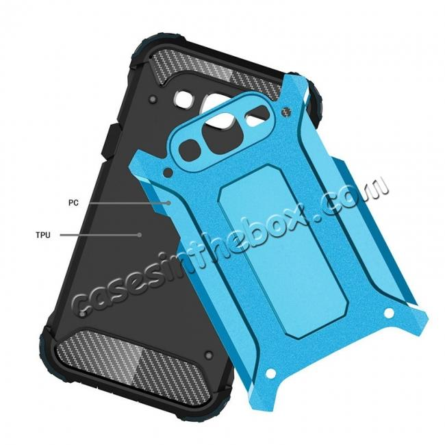 discount Dual Layer Shockproof Armor Case Cover for Samsung Galaxy J2 Prime - Blue