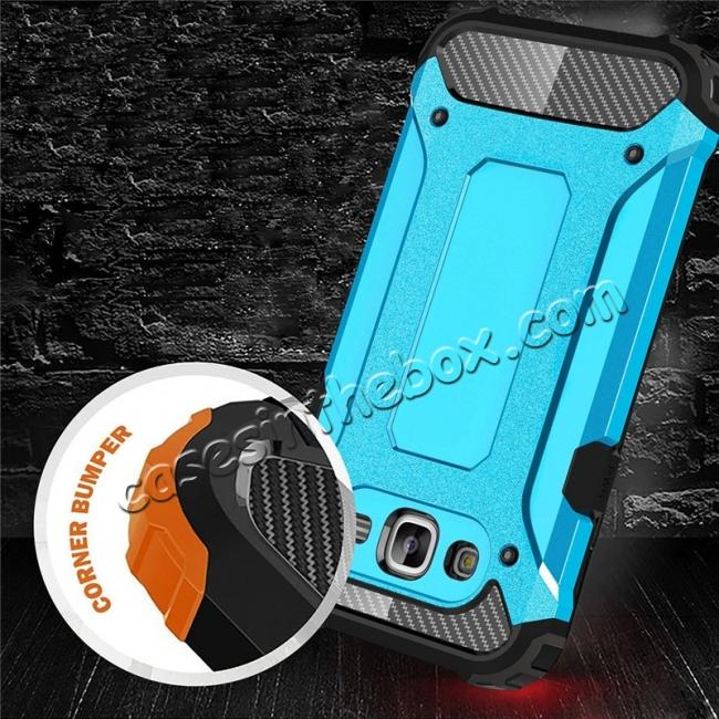 top quality Dual Layer Shockproof Armor Case Cover for Samsung Galaxy J2 Prime - Blue