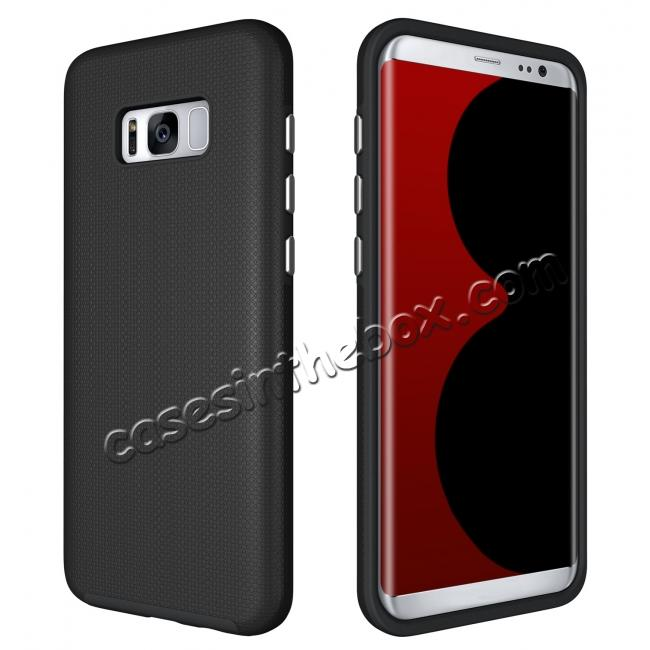 samsung galaxy s8 cases and covers,discount Hard/TPU Hybrid Dual Layer Shockproof Anti-Slip Armor Case Cover for Samsung Galaxy S8 - Black