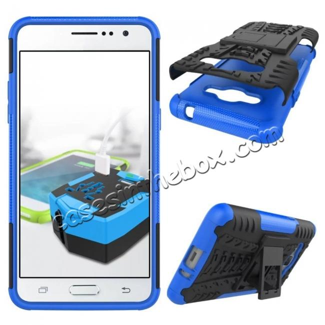 discount Hybrid TPU Hard Shockproof Cover Case Kickstand for Samsung Galaxy J2 Prime - Blue