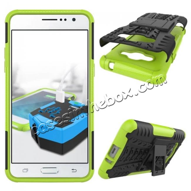 discount Hybrid TPU Hard Shockproof Cover Case Kickstand for Samsung Galaxy J2 Prime - Green