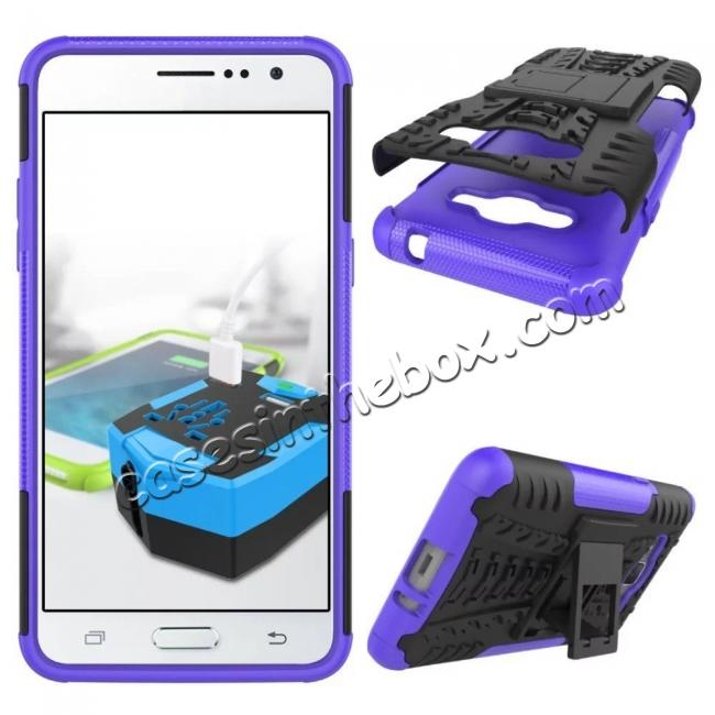 discount Hybrid TPU Hard Shockproof Cover Case Kickstand for Samsung Galaxy J2 Prime - Purple