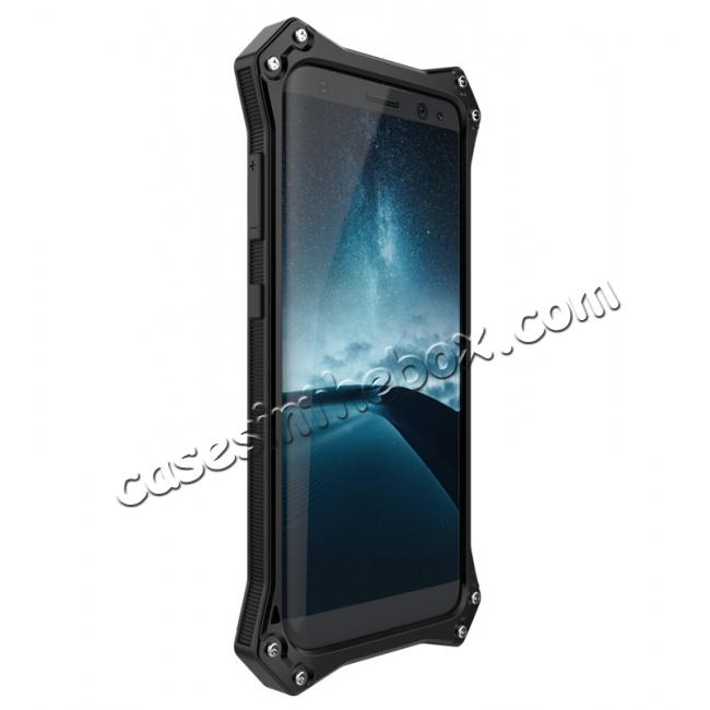 samsung s8 metal enclosed case,best price R-just Waterproof Shockproof Dustproof Metal Aluminum Silicone Case For Samsung Galaxy S8 - Black