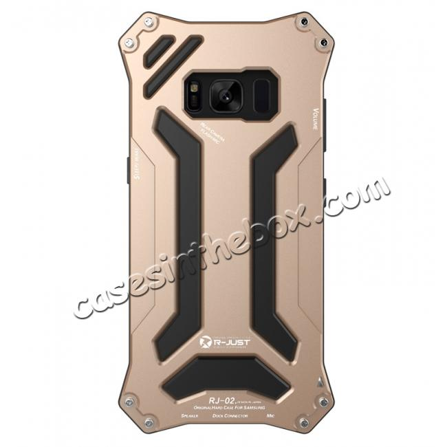 galaxy s8 metal,cheap R-just Waterproof Shockproof Dustproof Metal Aluminum Silicone Case For Samsung Galaxy S8 - Gold