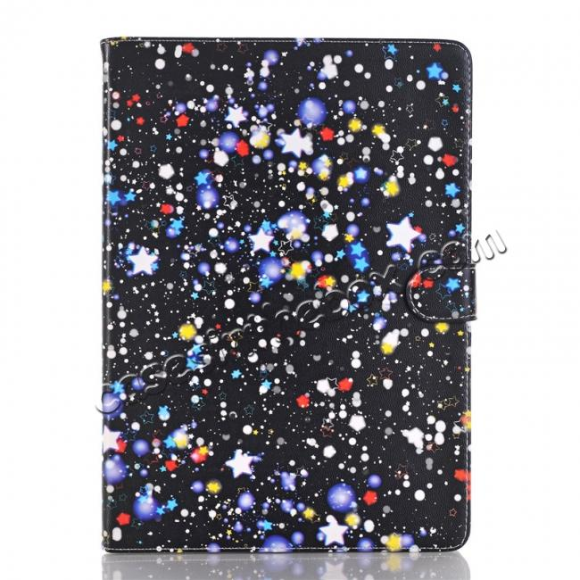 discount Stars Magnetic PU Leather Card Book Stand Flip Case Cover For New iPad 9.7 (2017)