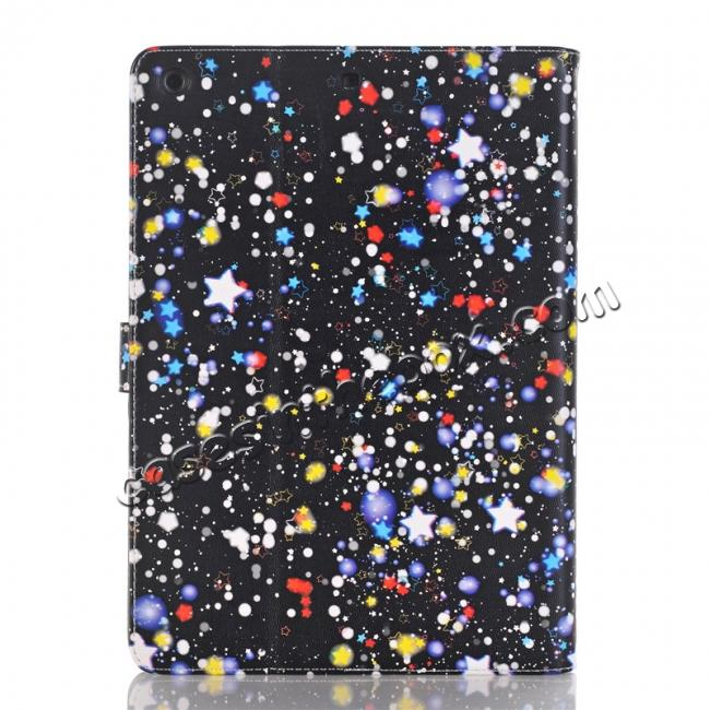 cheap Stars Magnetic PU Leather Card Book Stand Flip Case Cover For New iPad 9.7 (2017)