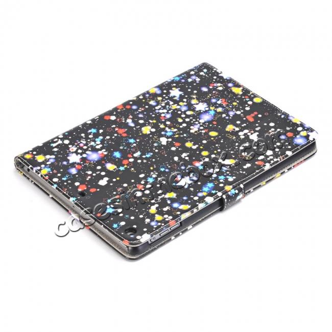 on sale Stars Magnetic PU Leather Card Book Stand Flip Case Cover For New iPad 9.7 (2017)