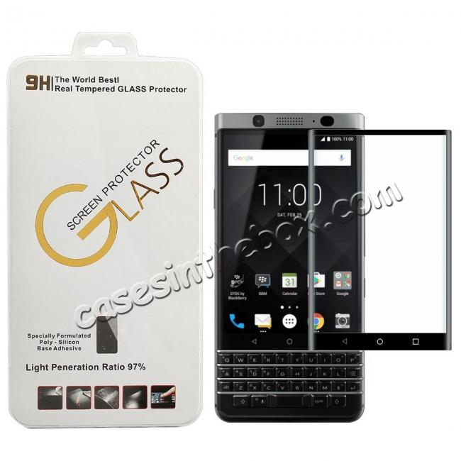 cheap 3D Edge Full Coverage 9H Hardness Tempered Glass Screen Protector for BlackBerry Keyone