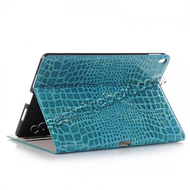 wholesale Crocodile Folio Flip Leather Stand Case Cover for iPad Pro 10.5-inch - Blue