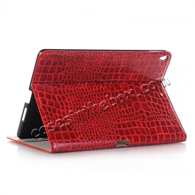 wholesale Crocodile Folio Flip Leather Stand Case Cover for iPad Pro 10.5-inch - Red