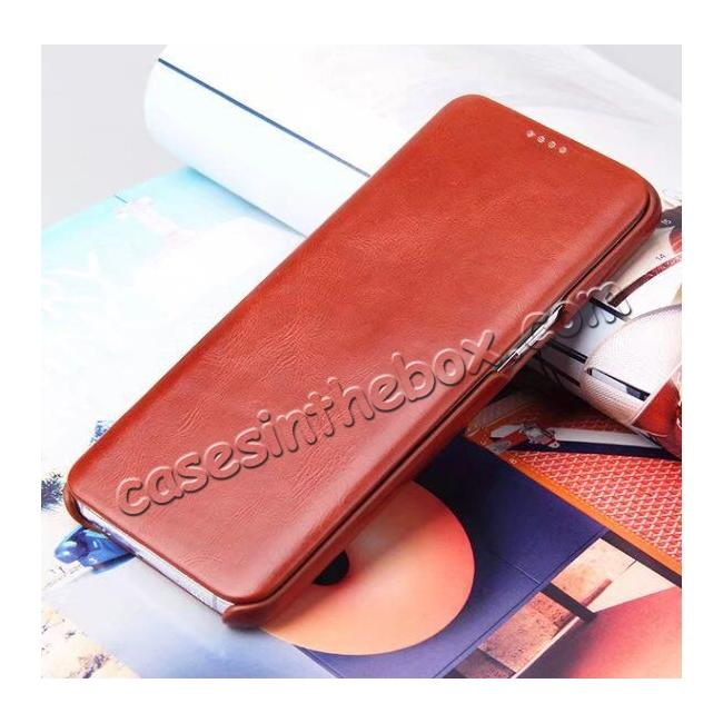 on sale Genuine Cowhide Leather Flip Wallet Case for Samsung Galaxy S8