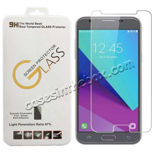 wholesale Premium Real Tempered Glass Screen Protector Film Guard for Samsung Galaxy J3 Emerge / J3 2017