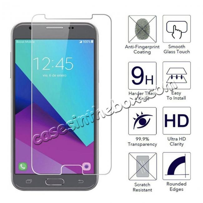 discount Premium Real Tempered Glass Screen Protector Film Guard for Samsung Galaxy J3 Emerge / J3 2017