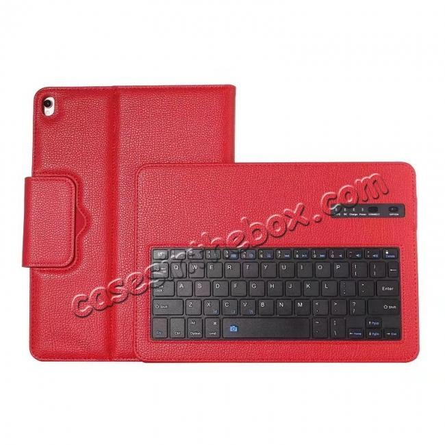 top quality Removable Bluetooth Keyboard Leather Case for 10.5-inch iPad Pro - Red