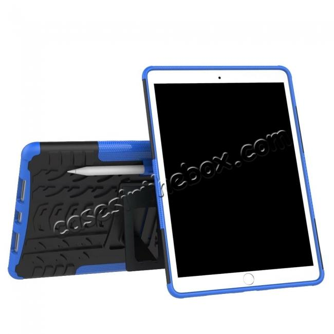 discount Rugged Armor TPU Hard Hybrid ShockProof Stand Case Cover For iPad Pro 10.5 inch - Blue
