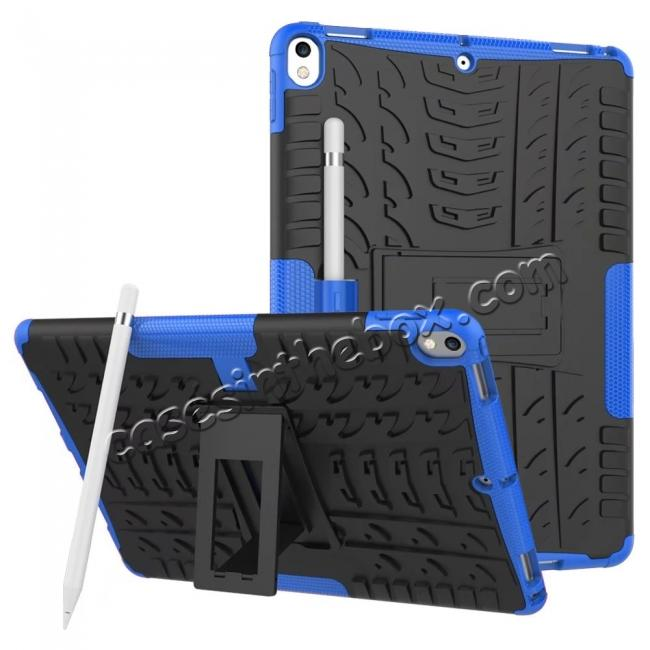 wholesale Rugged Armor TPU Hard Hybrid ShockProof Stand Case Cover For iPad Pro 10.5 inch - Blue