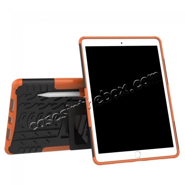 discount Rugged Armor TPU Hard Hybrid ShockProof Stand Case Cover For iPad Pro 10.5 inch - Orange