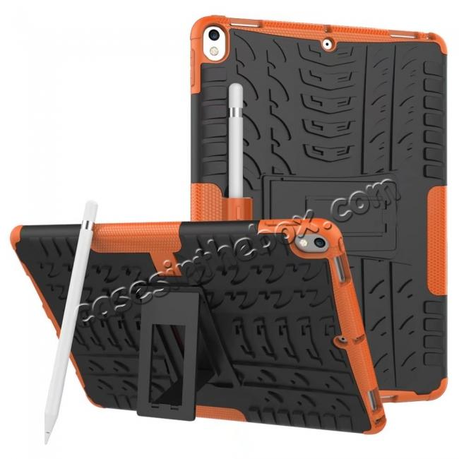 wholesale Rugged Armor TPU Hard Hybrid ShockProof Stand Case Cover For iPad Pro 10.5 inch - Orange