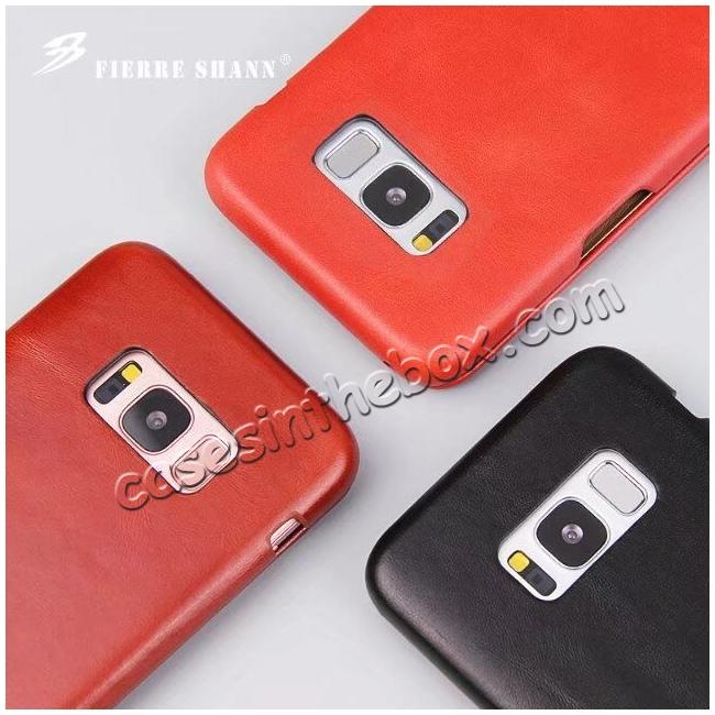 discount Slim Genuine Cowhide Leather Wallet Case for Samsung Galaxy S8+ Plus