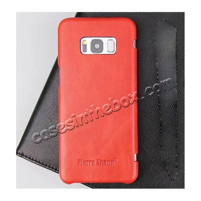 high quanlity Slim Genuine Cowhide Leather Wallet Case for Samsung Galaxy S8+ Plus