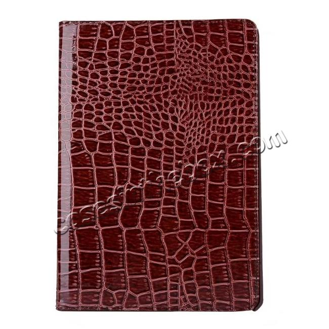 top quality 360 Degree Rotating Crocodile PU Leather Case for iPad Pro 10.5-inch - Brown