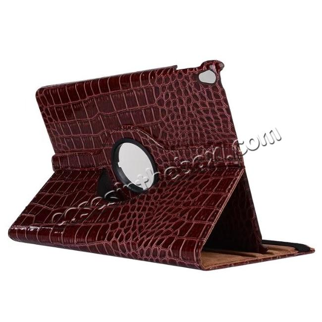 wholesale 360 Degree Rotating Crocodile PU Leather Case for iPad Pro 10.5-inch - Brown