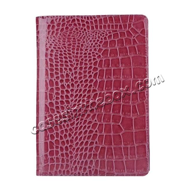 best price 360 Degree Rotating Crocodile PU Leather Case for iPad Pro 10.5-inch - Purple