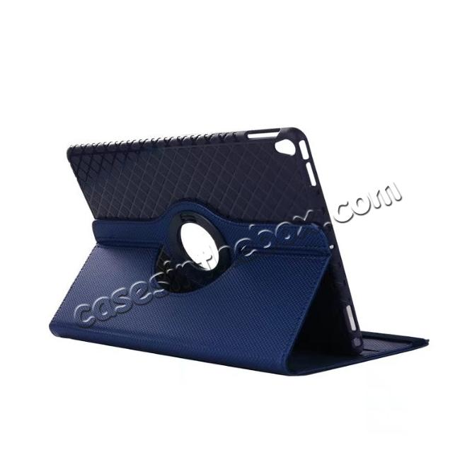 wholesale 360 Degree Rotating PU Leather Case With Stand For iPad Pro 10.5 inch - Dark Blue
