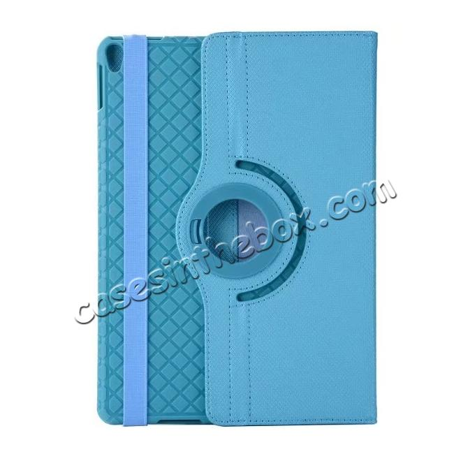discount 360 Degree Rotating PU Leather Case With Stand For iPad Pro 10.5 inch - Light Blue