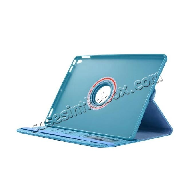 top quality 360 Degree Rotating PU Leather Case With Stand For iPad Pro 10.5 inch - Light Blue