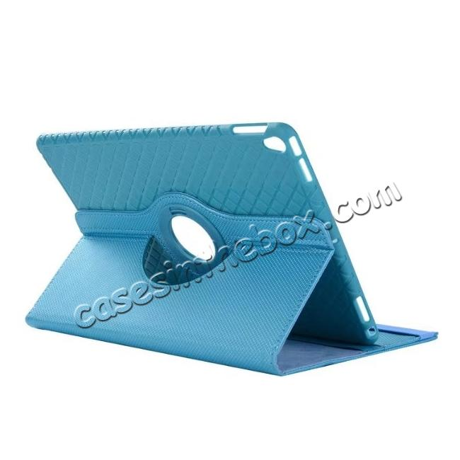 wholesale 360 Degree Rotating PU Leather Case With Stand For iPad Pro 10.5 inch - Light Blue