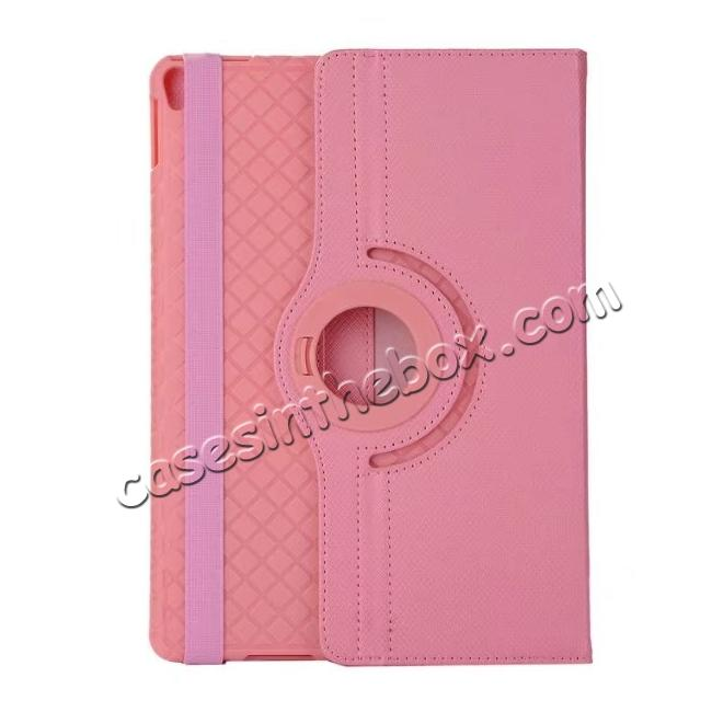 discount 360 Degree Rotating PU Leather Case With Stand For iPad Pro 10.5 inch - Pink