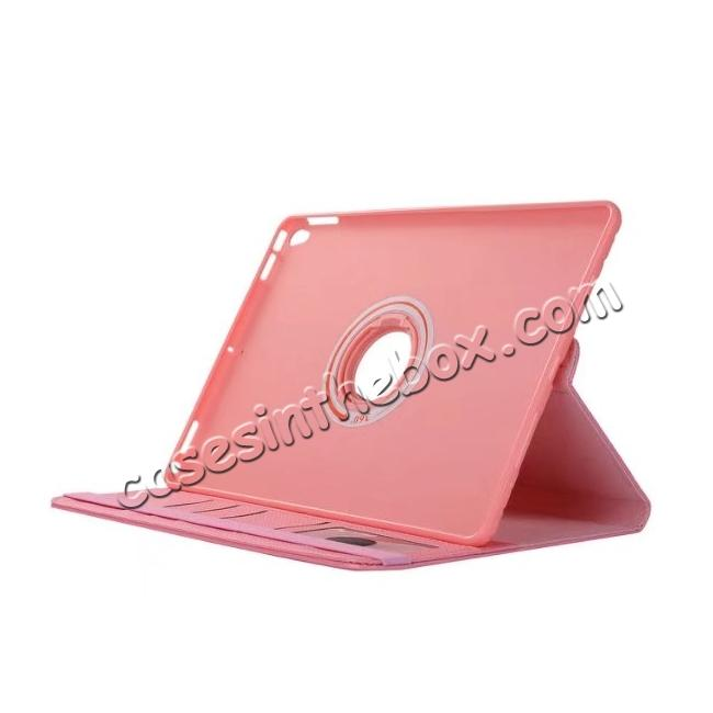 top quality 360 Degree Rotating PU Leather Case With Stand For iPad Pro 10.5 inch - Pink