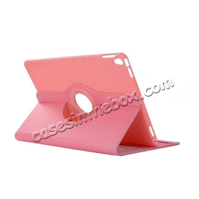 wholesale 360 Degree Rotating PU Leather Case With Stand For iPad Pro 10.5 inch - Pink